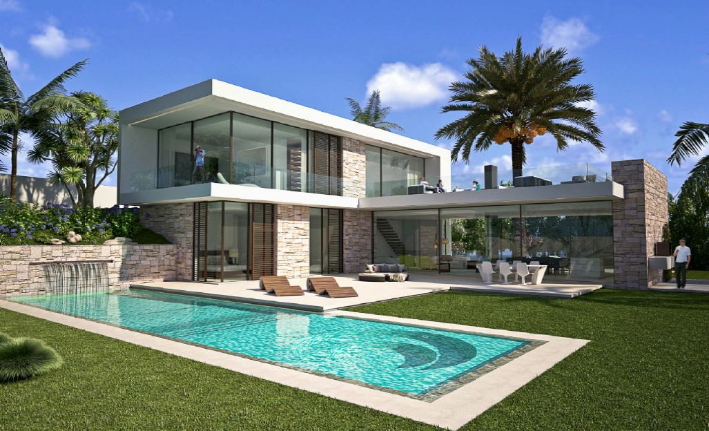 Villa under construction in Camino del Higueral, Benahavis. It has a fantastic plot of 1,647m2. This,Spain