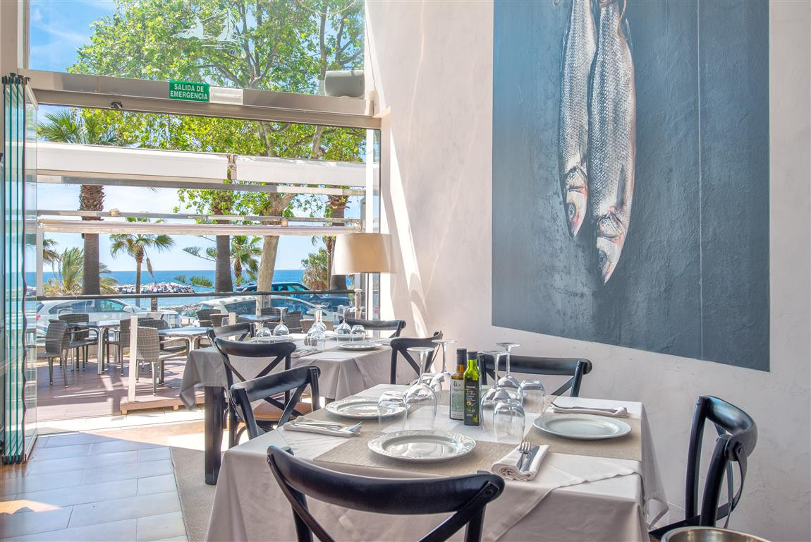 Stylish and spacious restaurant in one of the best locations in Marbella with panoramic sea views an,Spain