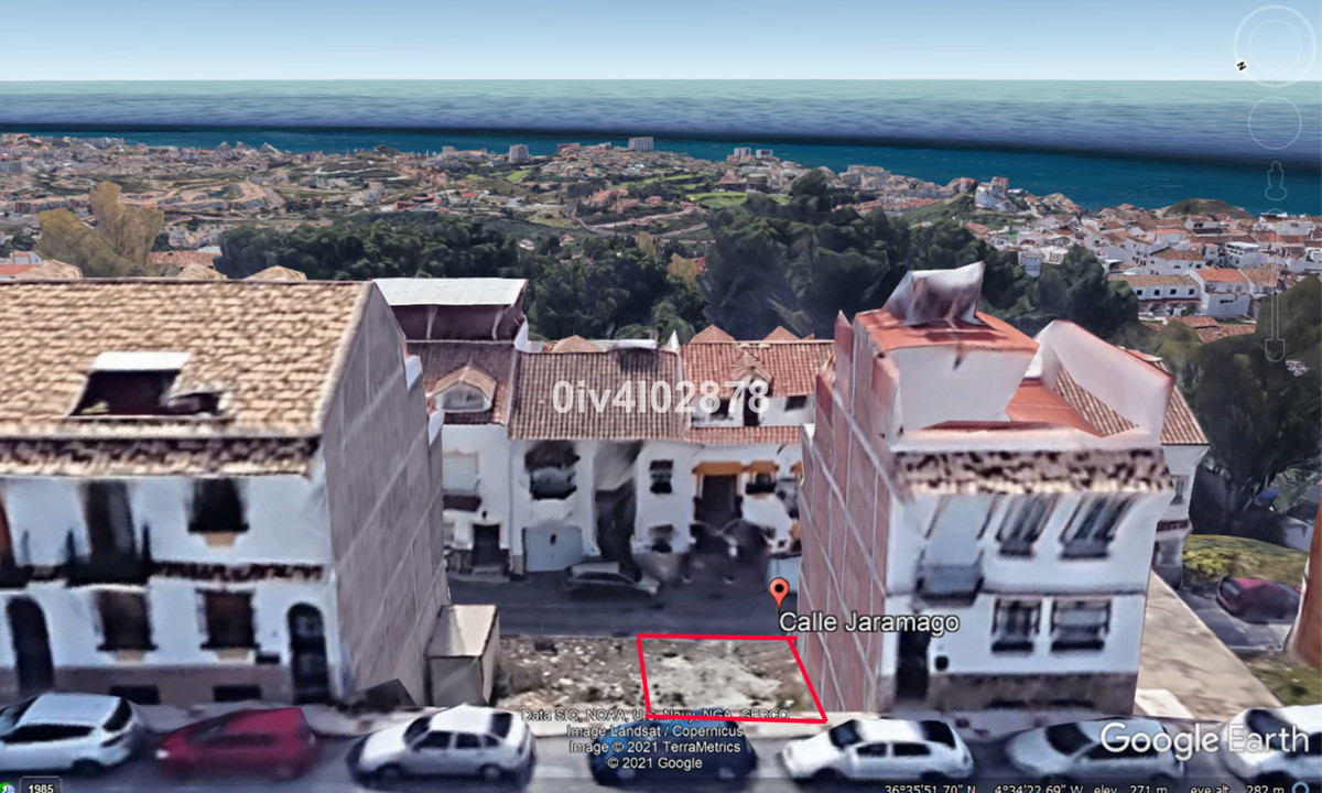Urban plot of  216m2 (composed of 2 neighbouring plots of 108m2 each) located in Benalmadena Pueblo,,Spain