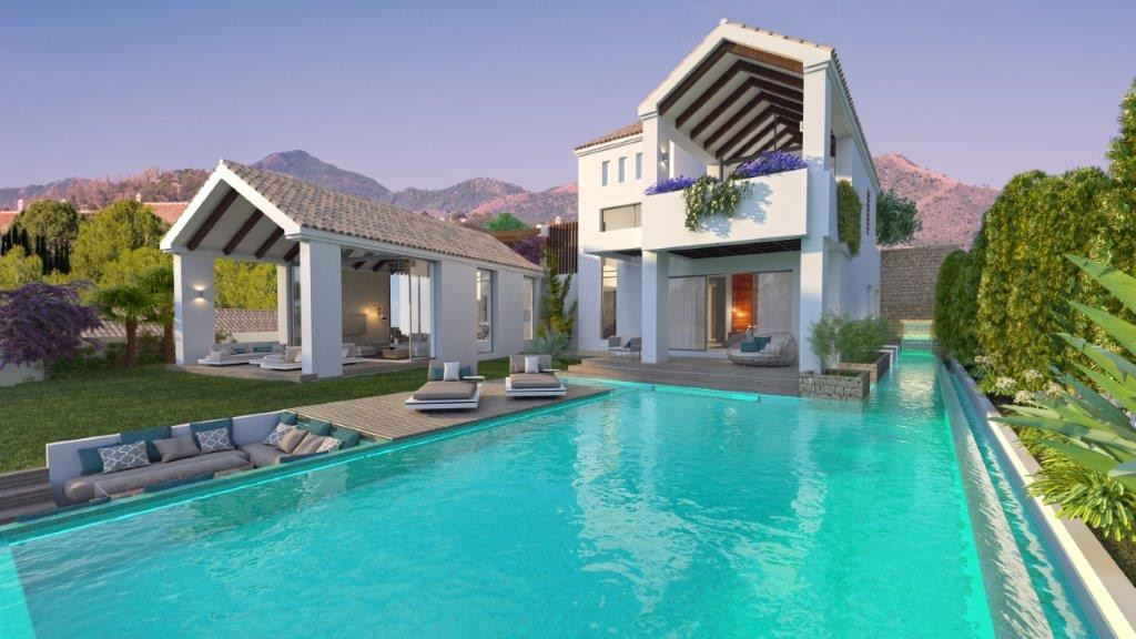 Elegant 3 bedroom villa within a private complex of 11 villas exceptionally located to enjoy uninter,Spain