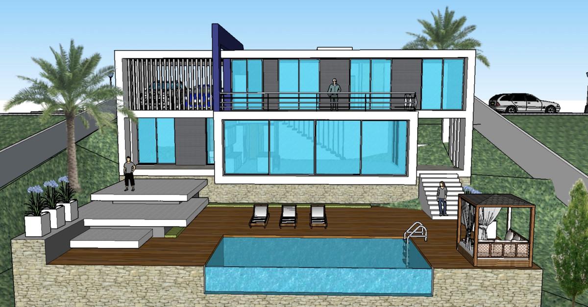Off-plan villa in Lomas de Mijas, Mijas Pueblo, with sea views, who will be build over 2 floors Stre,Spain