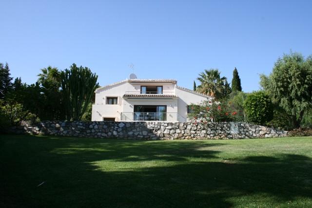 Magnificent family home in the prestigious neighborhood of Hacienda Las Chapas in Marbella. On a plo,Spain