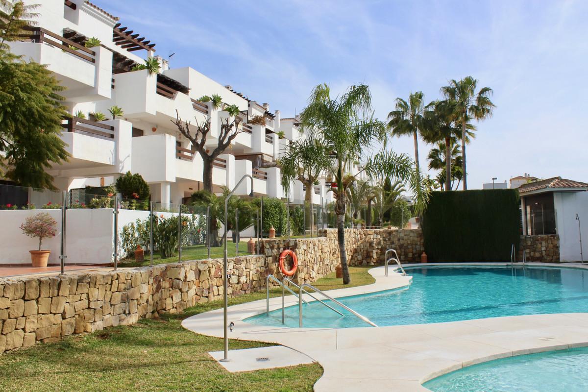 Bright flat with large garden in Costalita del Sol, halfway between Marbella and Estepona, just 100m,Spain