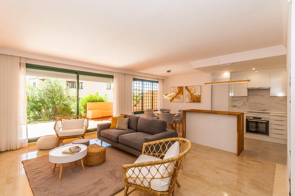 Great two bedroom ground floor apartment in Elviria in El Manantial Urbanization .The apartment cons,Spain