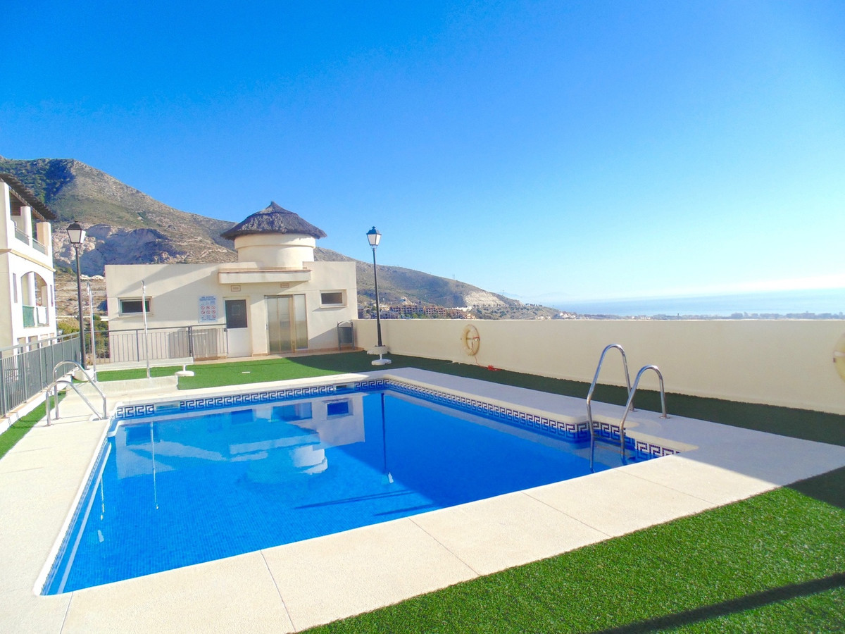 Modern secure ground floor apartment in show home condition in the lovely mountain village of Benalm,Spain