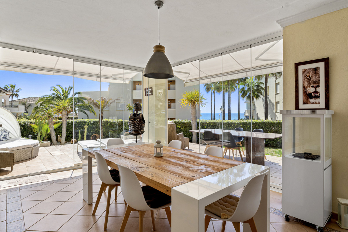 Completely reformed ground floor corner apartment with sea views and large private sunny south-west ,Spain