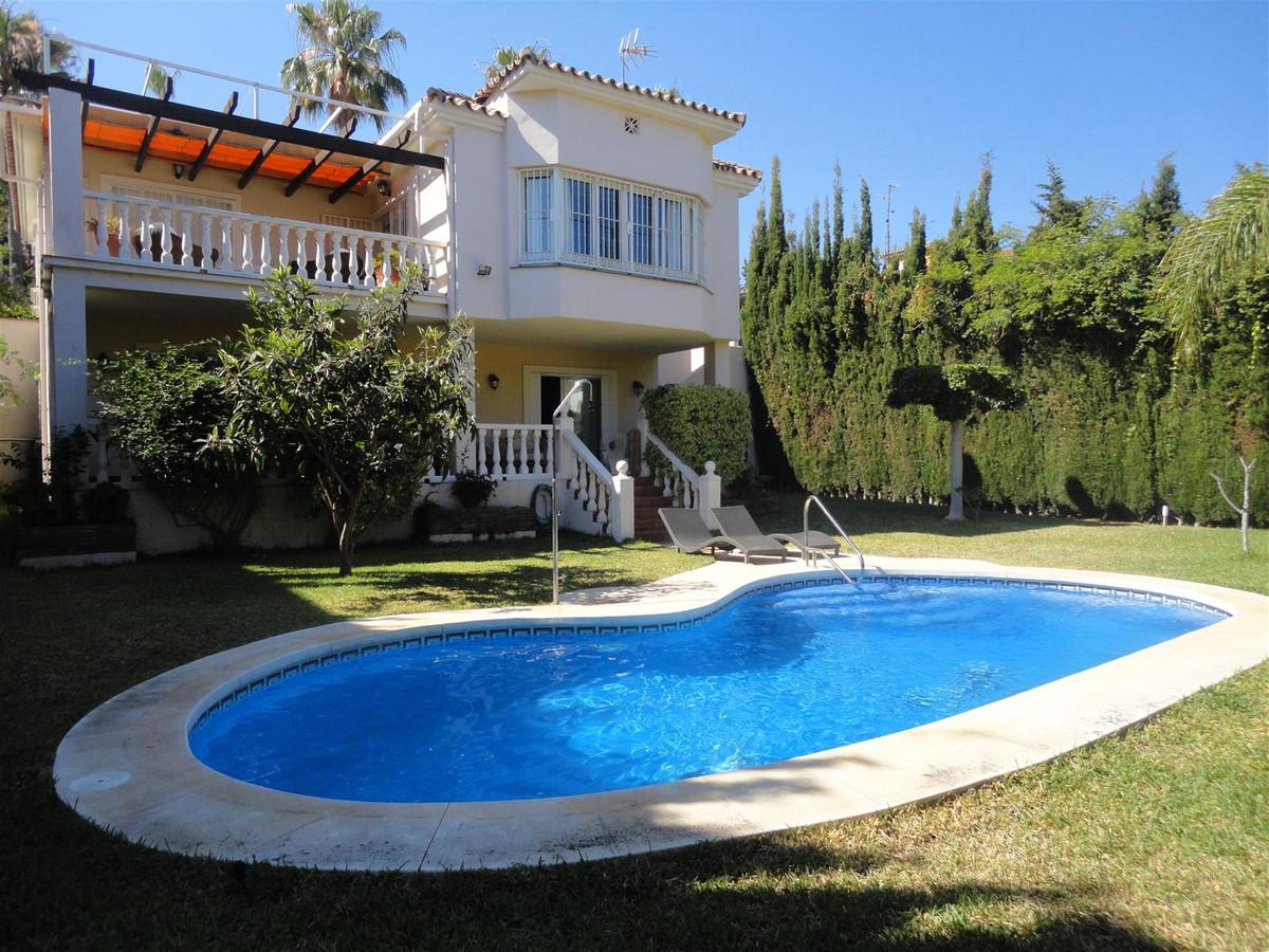 Villa at 420 meters walking from the beach. It consists of three bedrooms each with bathroom en suit,Spain