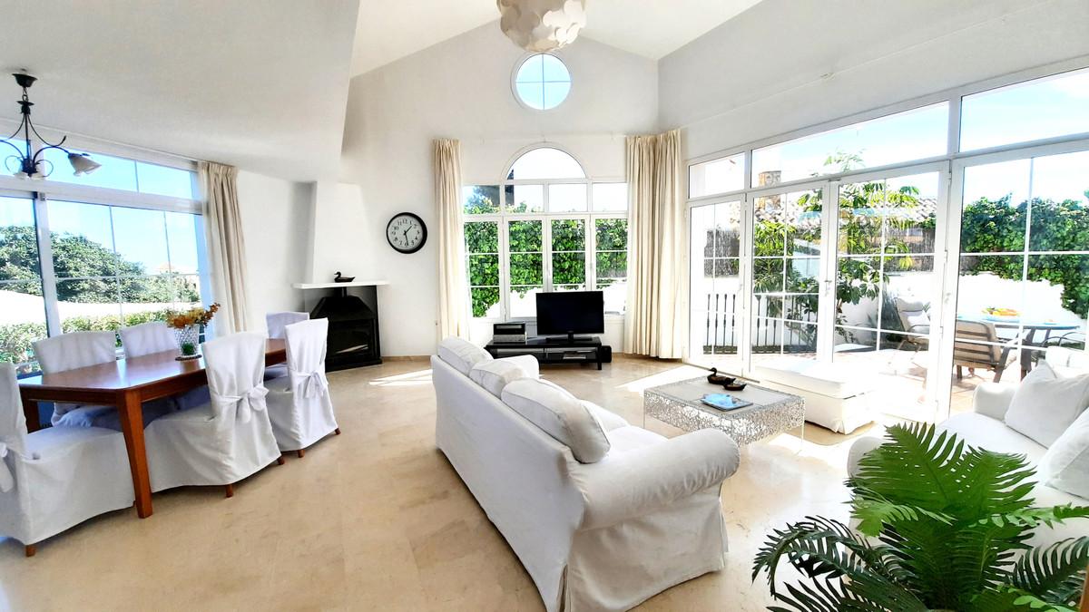 Bright & sunny villa for sale in the area of El Faro, Mijas Costa.  This independent level is di,Spain