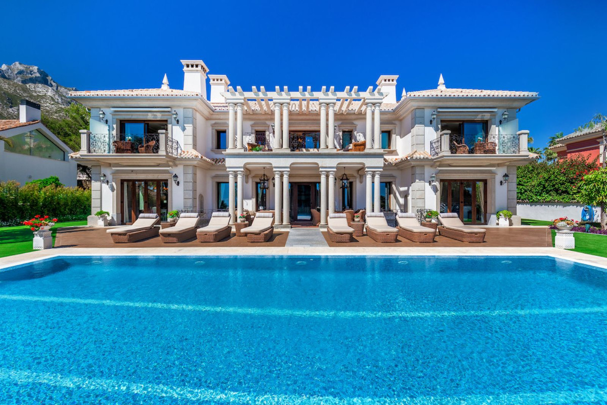 Villa for sale in Sierra Blanca, Marbella with 8 bedrooms, 8 bathrooms and with orientation south, w,Spain