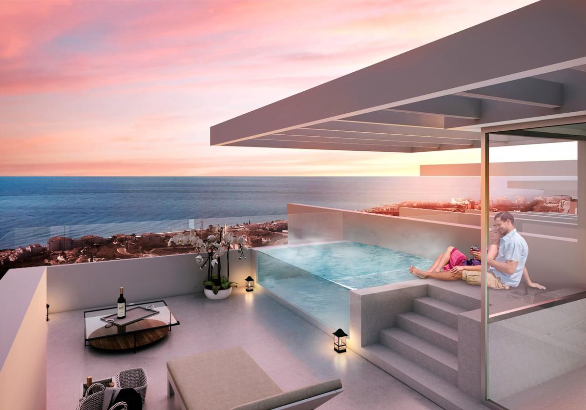 New promotion 2018  Seven new Houses in El Penoncillo de Torrox Costa.  3 floors with large solarium,Spain