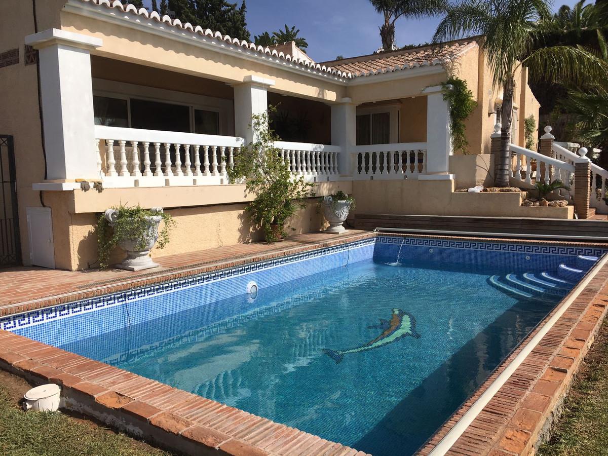 Really stunning villa in a famous urbanisation in Mijas Costa, offering a 4 bedroom villa with bathr,Spain