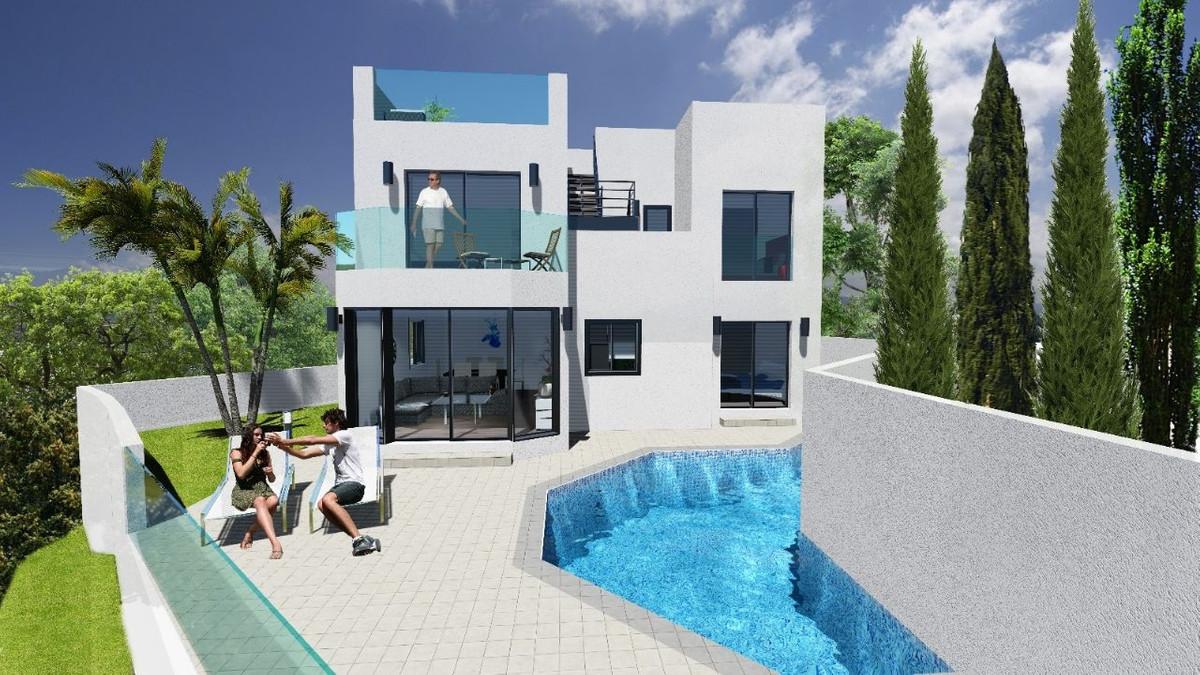 STUNNING MODERN CONTEMPORARY LUXURY VILLA IN TORROX COSTA WITH SEA & MOUNTAIN VIEWS. The villa h,Spain
