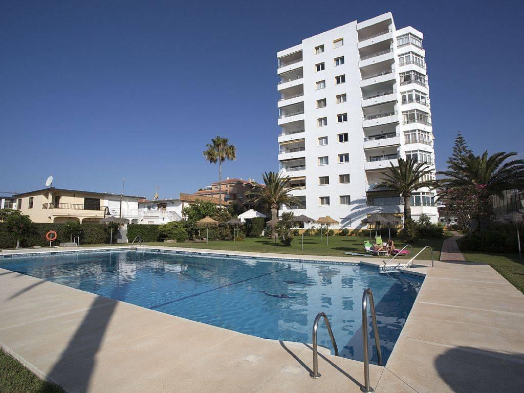 Frontline beach in la Cala de Mijas.   A bright and fresh studio apartment offered for sale in the p,Spain