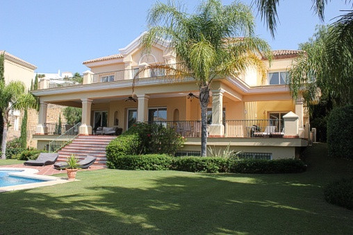 Located in the Los Flamingos Golf Resort, Marbella this fabulous south facing villa is in walking di,Spain