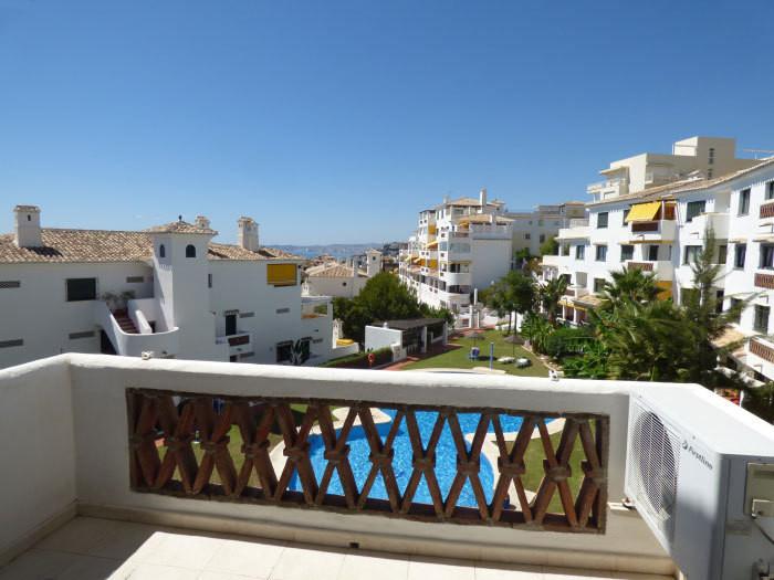 "In Benalmadena Costa, in the beautiful Andalusian style urbanisation ""Pueblo Torrequebrada&quot,Spain"