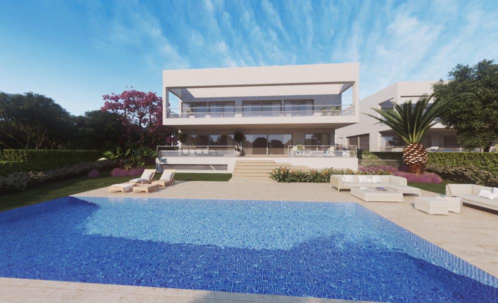 Villa with modern architecture located in the heart of the prestigious Guadalmina baja, is a private,Spain