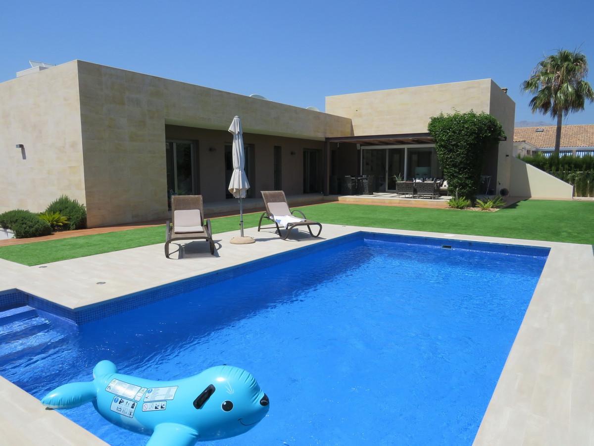 CHALET DE LUJO, ALFAS DEL PI - 5 BEDROOM 4 BATHROOM MODERN LUXURY VILLA  SAUNA, GYMNASIUM, POOL, SOL,Spain
