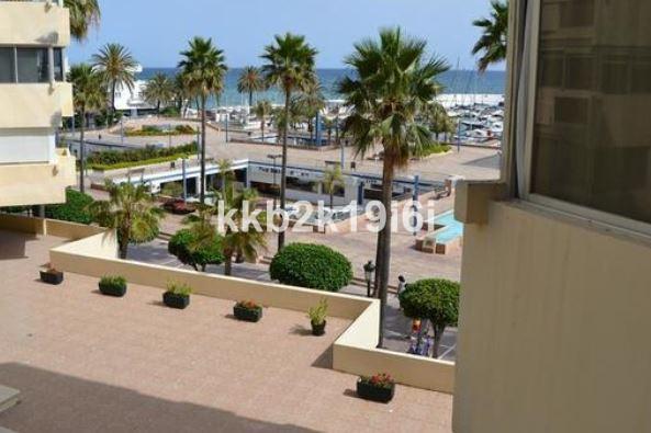 Alluring 40 sqm beach front studio right across the Puerto Deportivo in Marbella city centre.  Lumin,Spain
