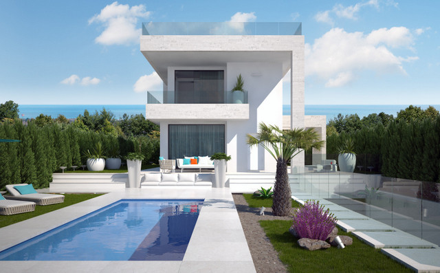 LUXURY DETACHED VILLAS IN VILLAMARTIN, WITH PRIVATE POOL. These luxury detached villas are on 2 floo,Spain