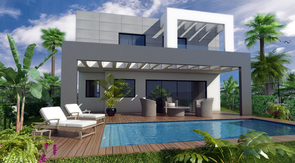 Contemporary Villas - New Build - Cerros del Aguila  Villa with plot Build - 160m2 Basement - 60m2 P,Spain