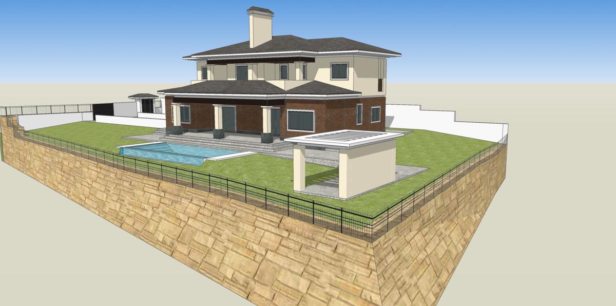 Land with the project in La Alqueria  Benahavis, Costa del Sol. Garden/Plot 1510 m².  Condition : Ex,Spain