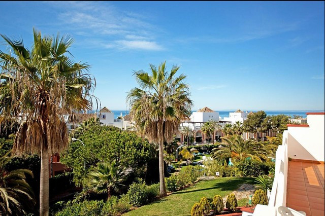 Immaculate beachside three bedroom apartment in Elviria, Urbanisation Marbella Playa. This property ,Spain