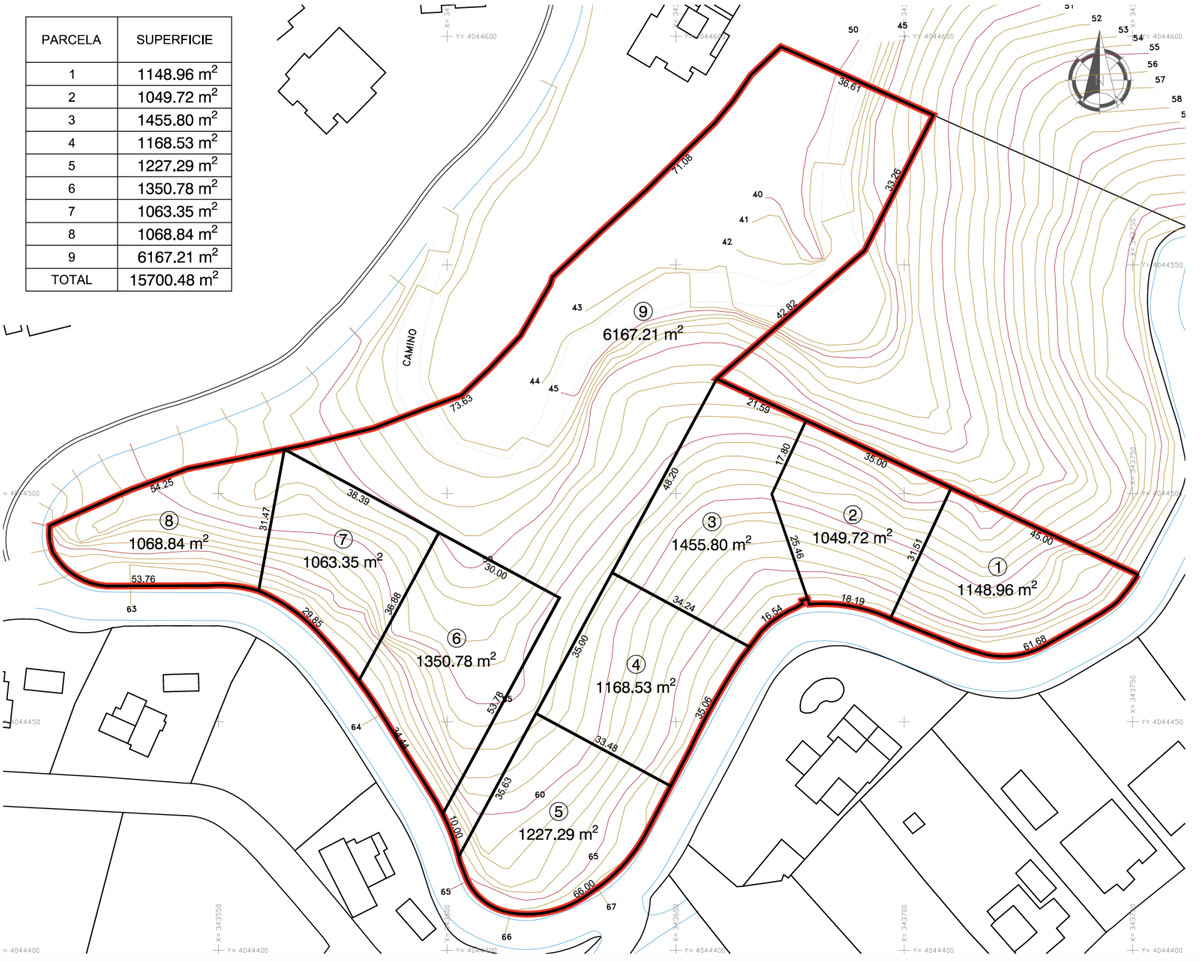 Plot to build 15 villas in La Mairena.   Residential Plot, La Mairena, Costa del Sol. Garden/Plot 16,Spain