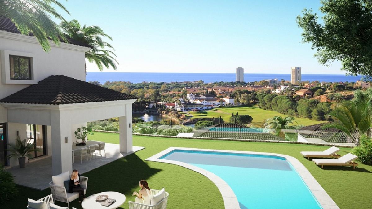 Located in Elviria, in a luxury gated complex of 40 single villas & semi-detached villas, overlo,Spain