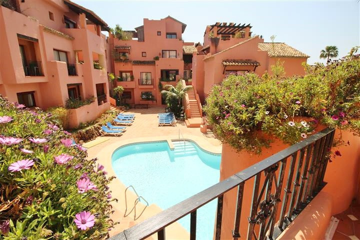 A 3 bedroom ground floor beach side apartment in the heart of Elviria, East Marbella. 300 metres wal,Spain