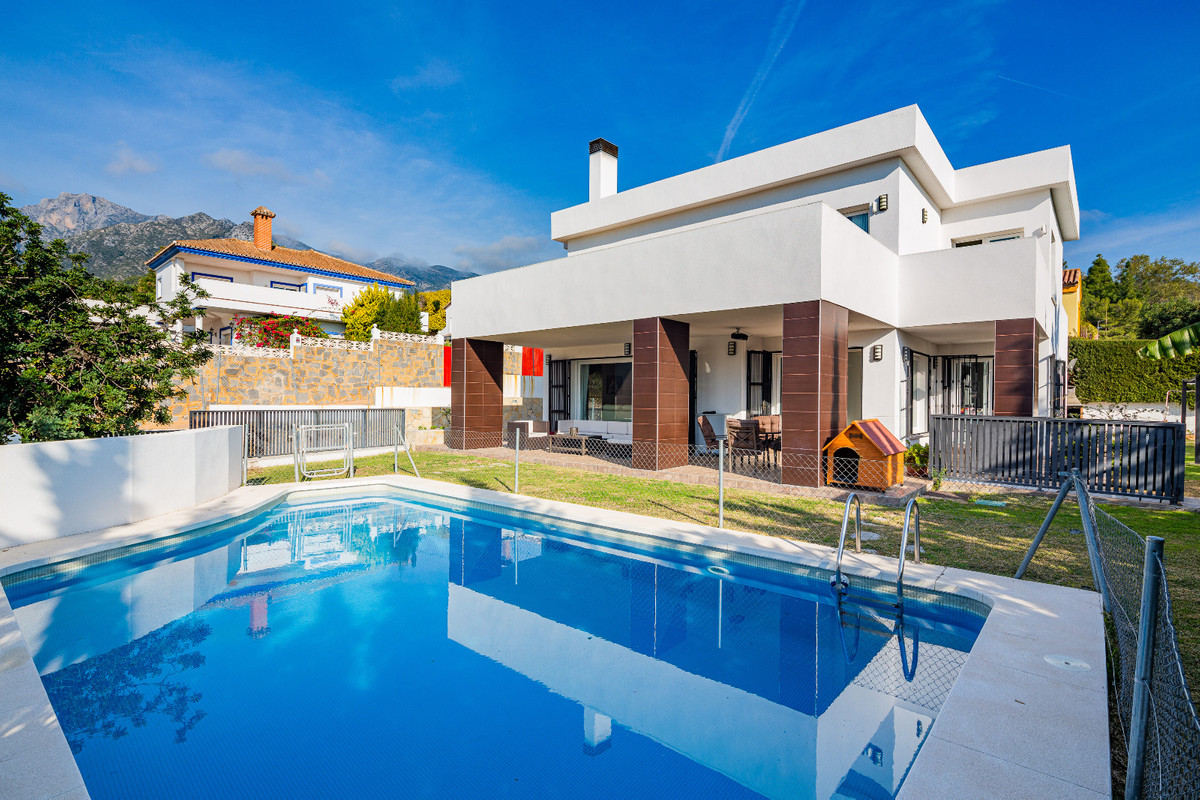 Villa located at the foot of the La Concha mountain, Marbella.  Fully modern white-painted villa wit,Spain