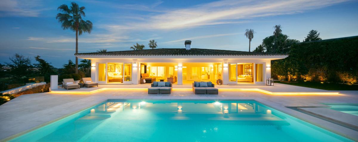This marvellous villa is located in las Brisas, Nueva Andalucia, with beautiful views of las Brisas ,Spain