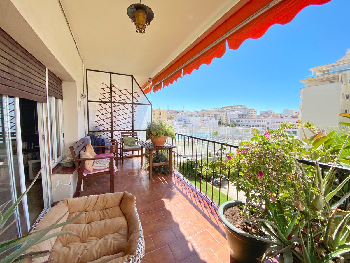 Large bright and airy 3 bedroomed apartment in the center of Marbella. South facing with an open pla,Spain