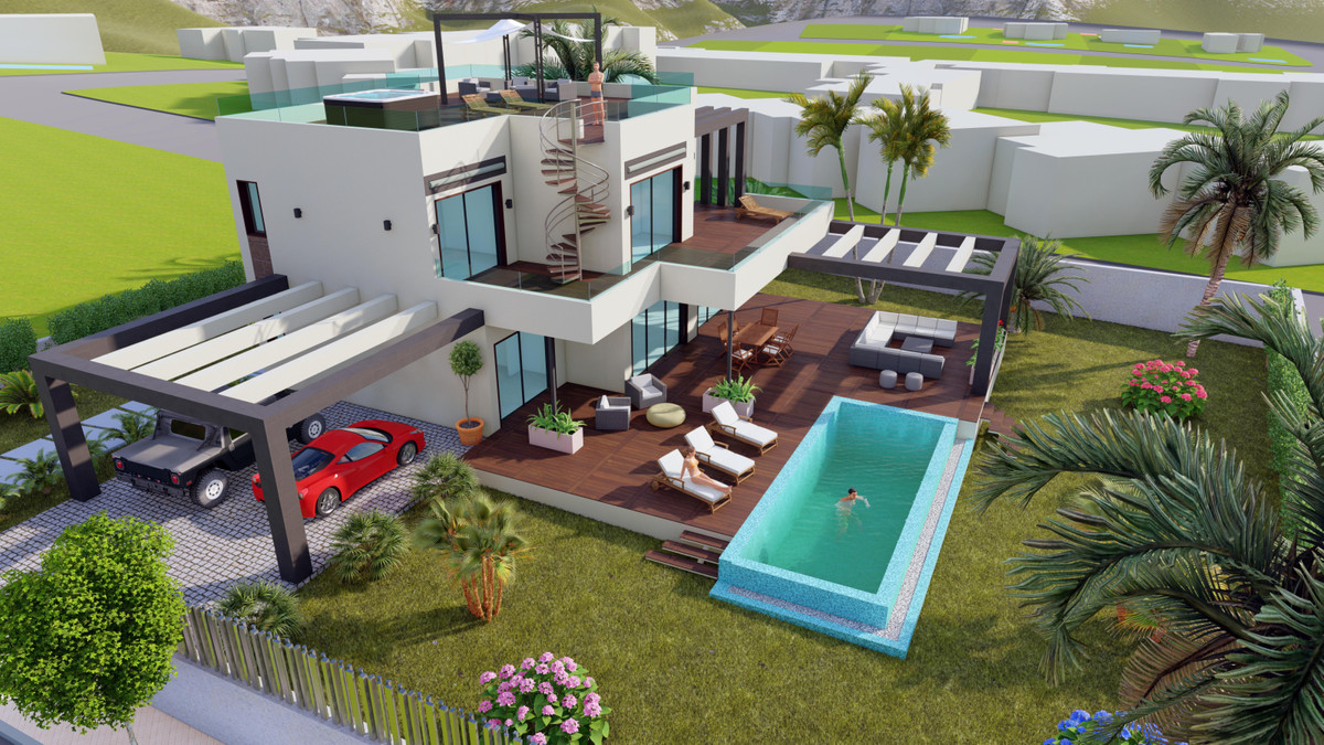 Super project for a villa with a modern and minimalist design. Located in one of the most excluvies ,Spain