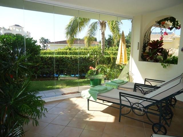 Very spacious ground floor apartment situated in Hacienda Playa (Elviria Beach side) at 100 meters f,Spain