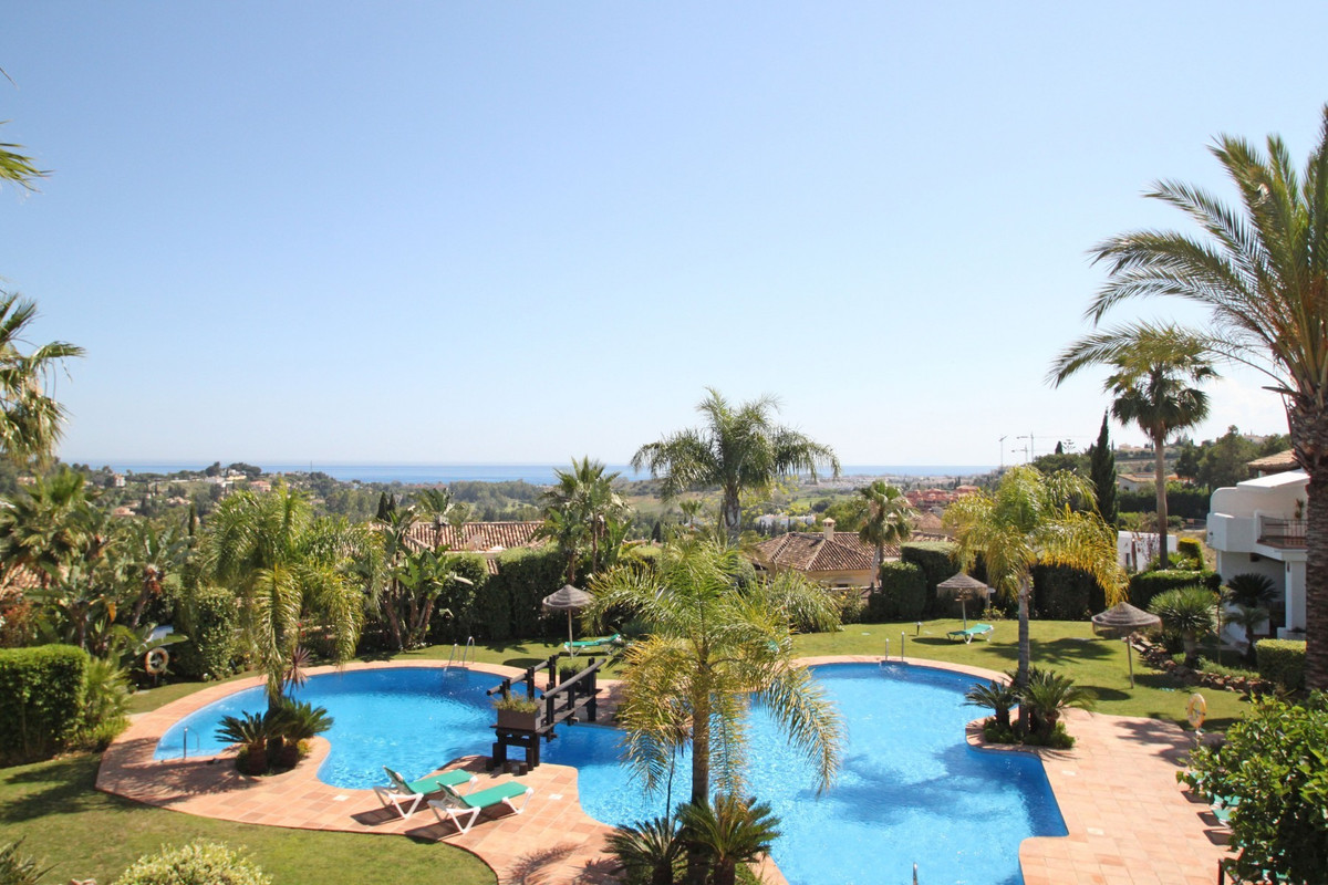 SOUTH WEST · facing three bedroom corner townhouse with sea views set in the sought after complex of,Spain