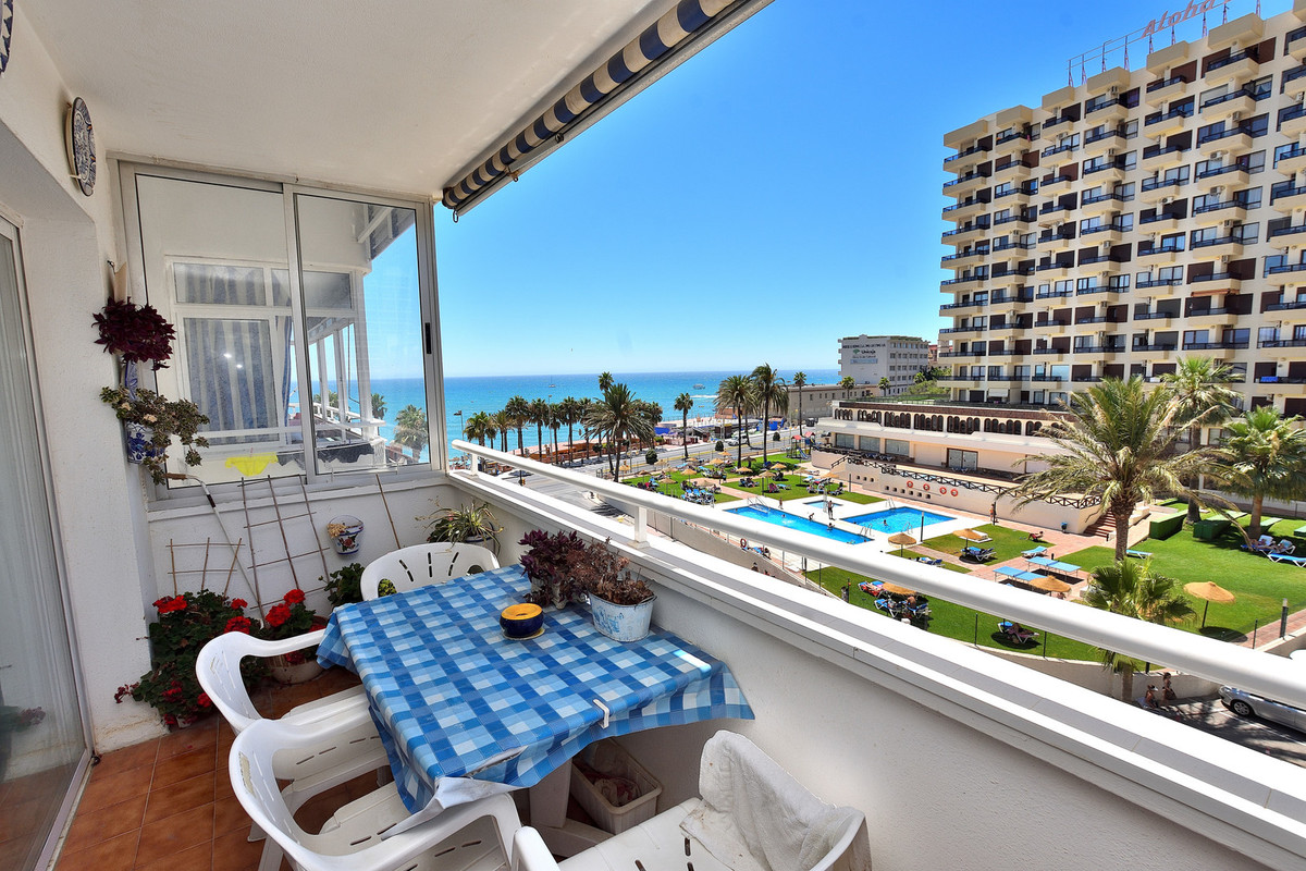Beachfront apartment in Benalmadena, only 50 meters to the beach and with a magnificent view of the ,Spain
