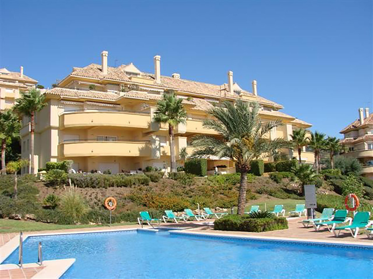 A large three bedroom, third floor apartment in Elviria Hills, Marbella East. The property consists ,Spain