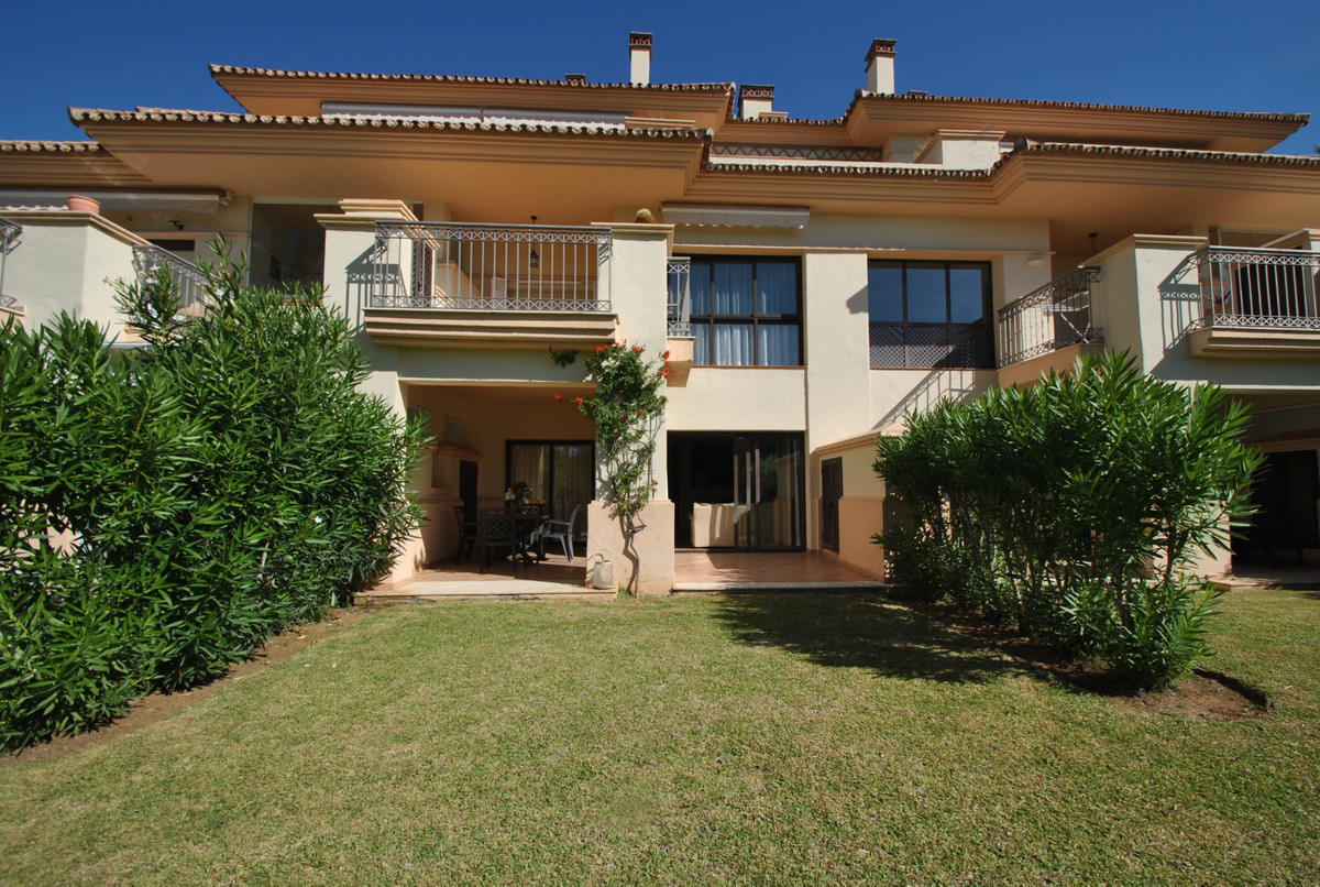 A wonderful two bedroom garden apartment in a sought after development in the Rio Real area of Marbe,Spain