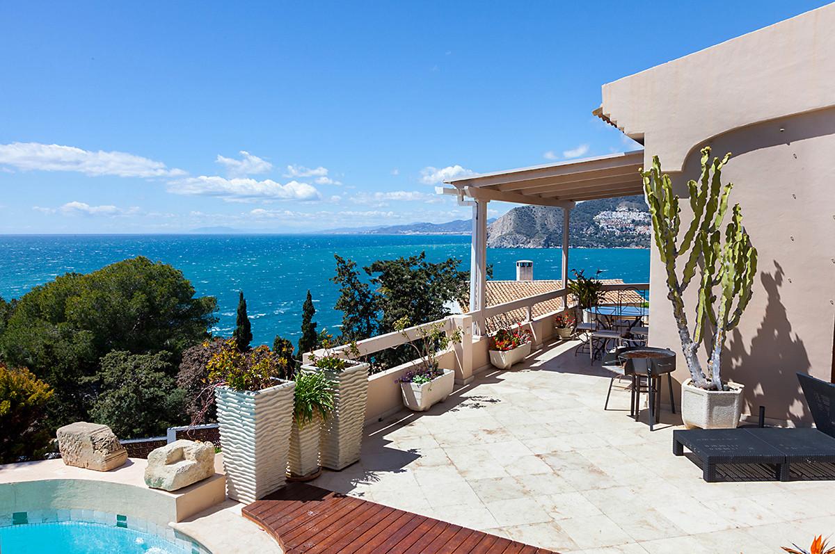 Charming south facing Villa on Punta de la Mona less than a km to La Herradura beach. Spacious main ,Spain