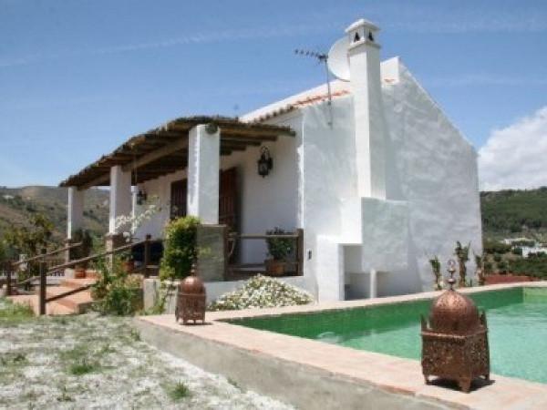Villa near El Cerro in the countryside of Frigiliana within a fenced plot with private garden and po,Spain
