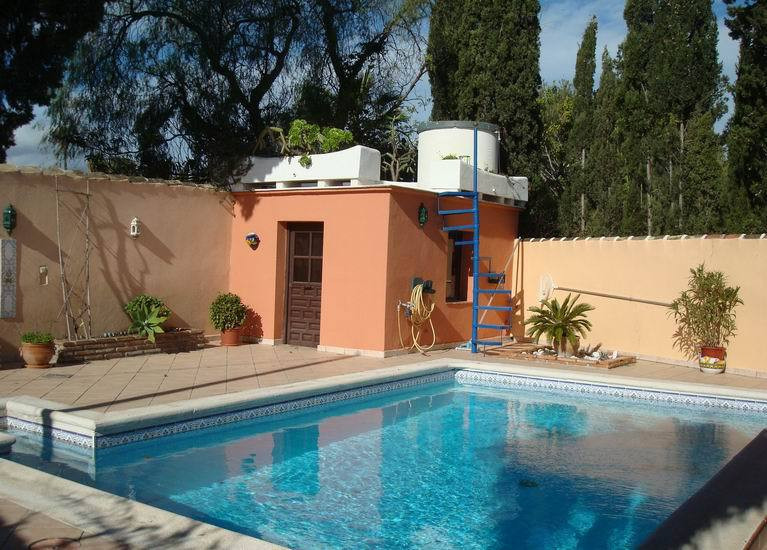 FANTASTIC LITTLE VILLA located between Mijas and Fuengirola! Private courtyard with swimming pool an,Spain