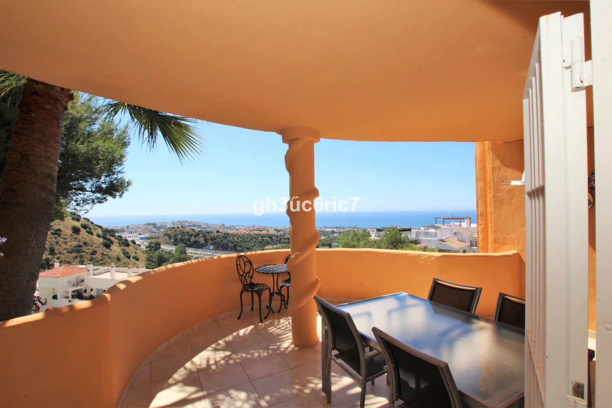 Elevated ground floor apartment with wonderful sea views located in the upper area of Sitio de Calah,Spain