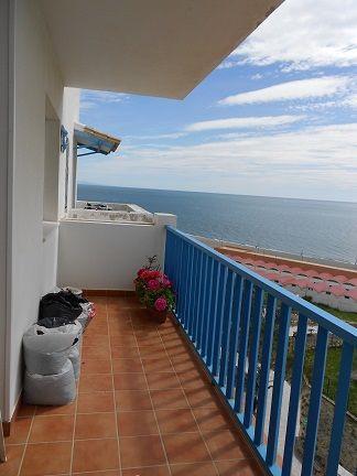 In Estepona, floor, front sea view, panoramic floor corner overlooking the Rock of Gibraltar, the po,Spain
