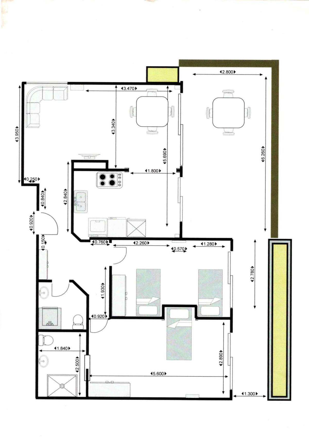 2 Bedrooms - 2 Bathrooms