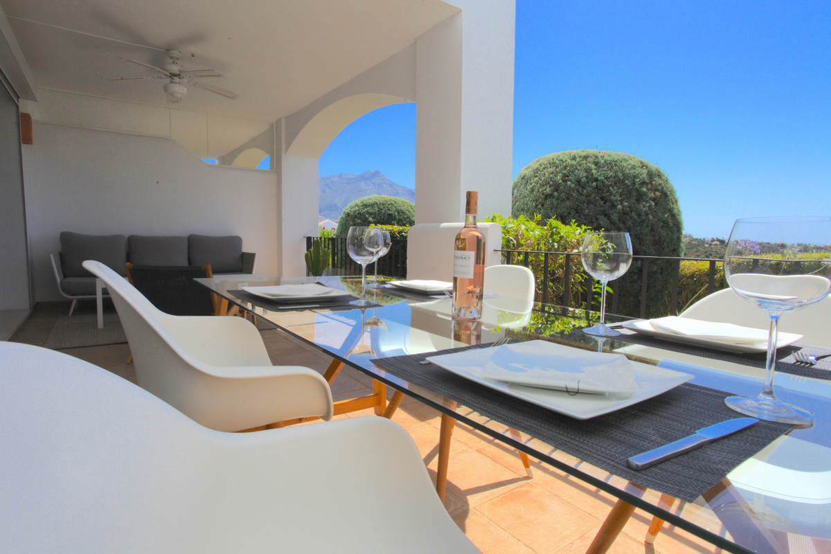 A beautiful 2 bedroom apartment in Altos de La Quinta with panoramic views to the mountains and sea.,Spain