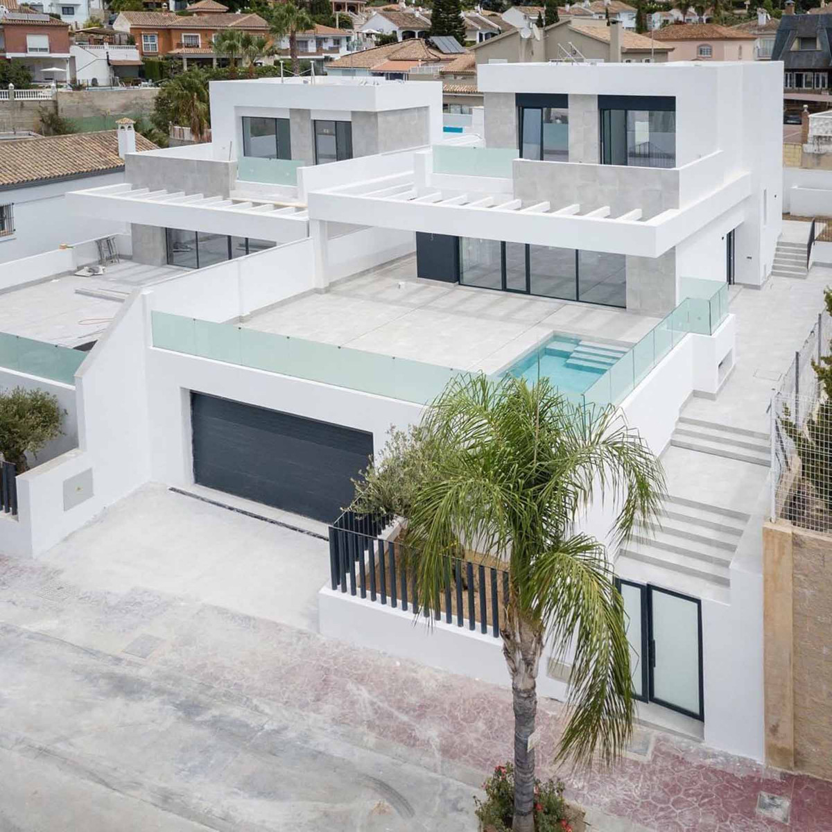 A new A+ certified luxury villa with views of the mountains in La Sierrezuela, Mijas, Malaga. The vi,Spain