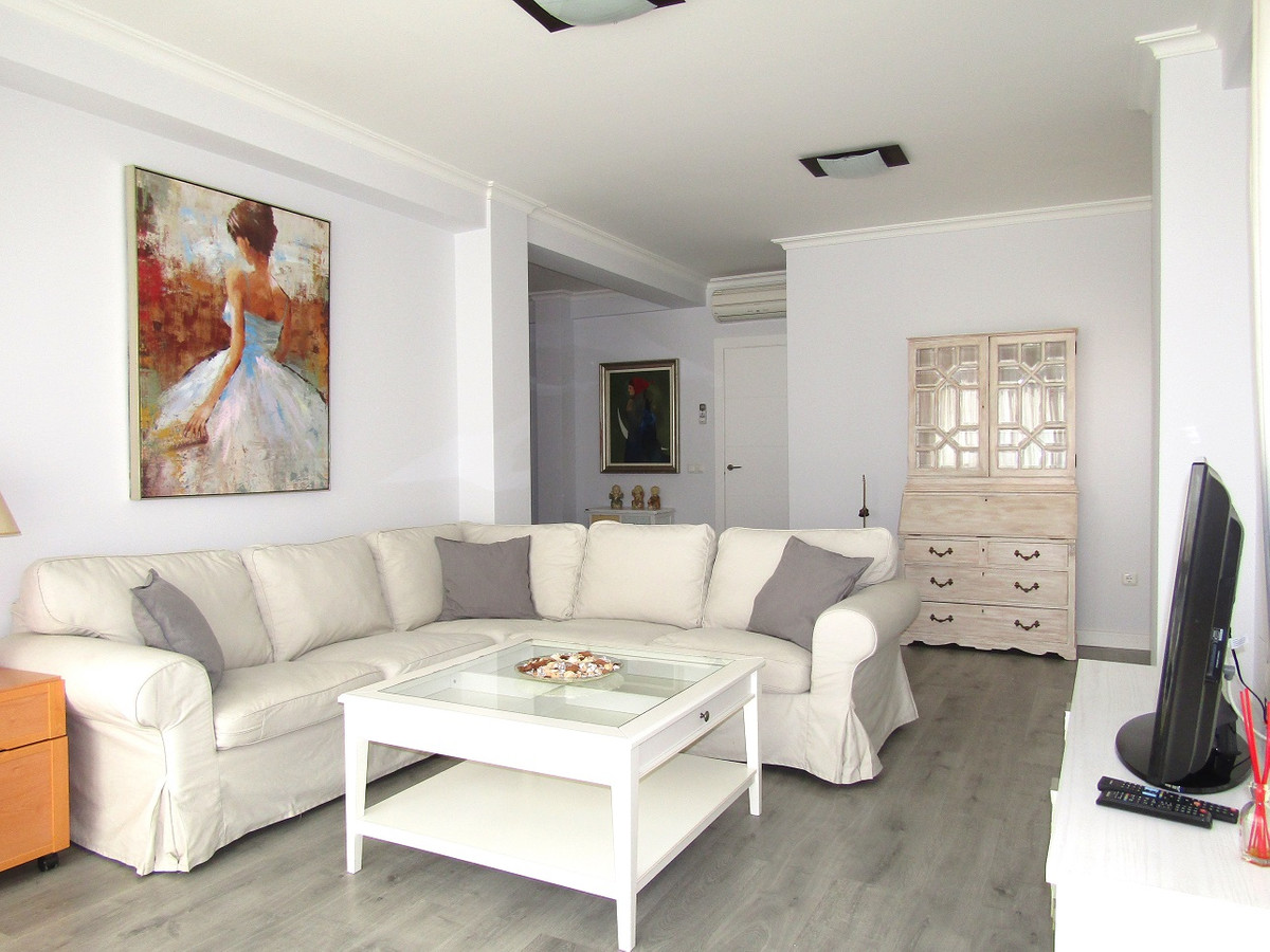 This completely refurbished 150m2 4 bed 3 bath apartment with balcony has fantastic panoramic sea vi,Spain