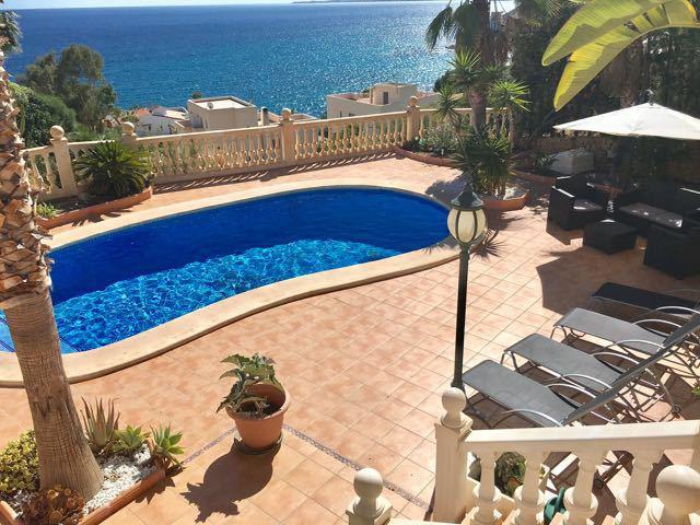 Charming, sea view, luxurious, detached Villa, El Campello, Alicante (Costa Blanca). 6 Bedrooms, 4 B,Spain
