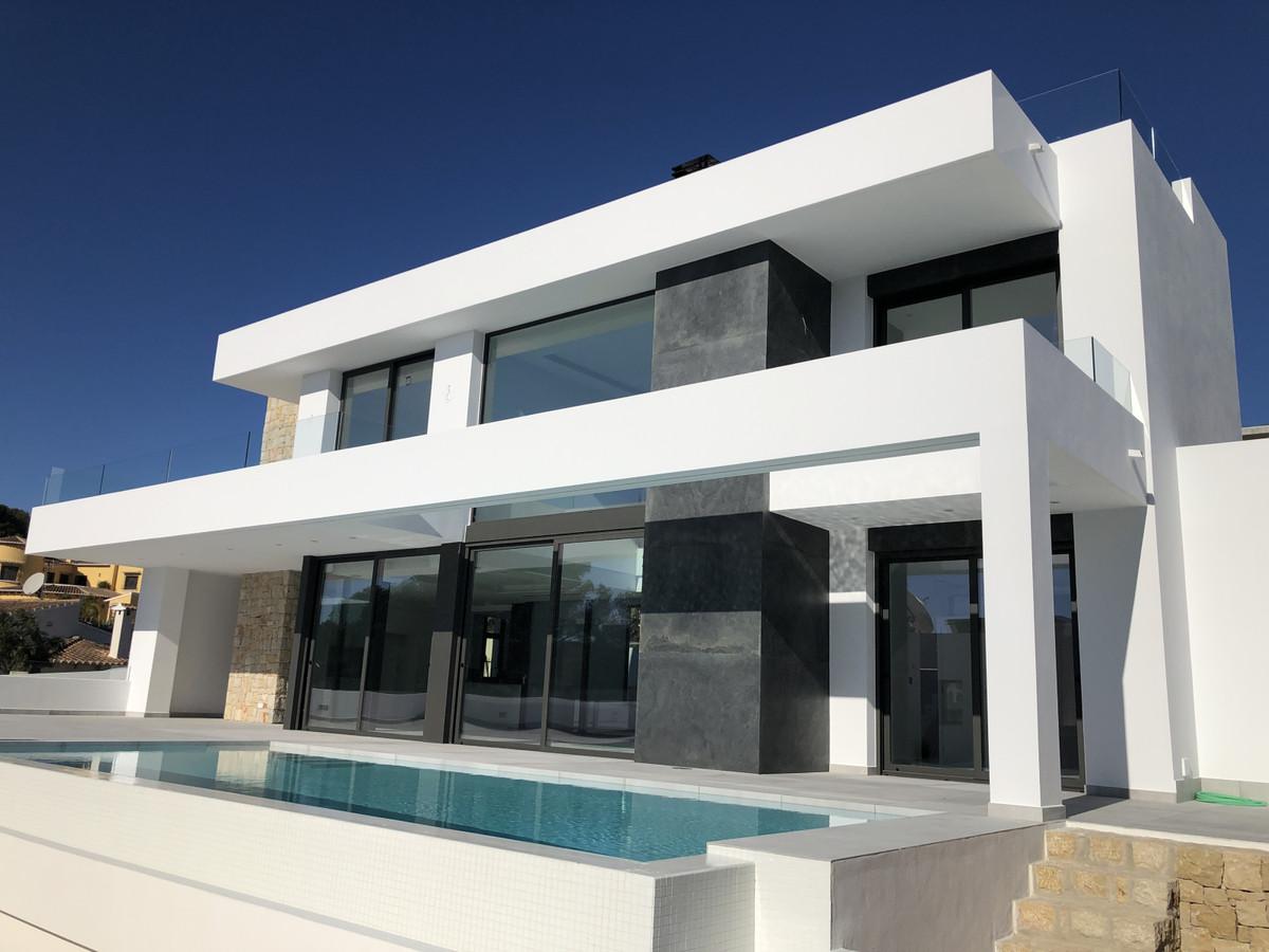 Top quality, south-facing, new-build villa in Moraira, Costa Blanca.  2019 modern villa, just finish,Spain