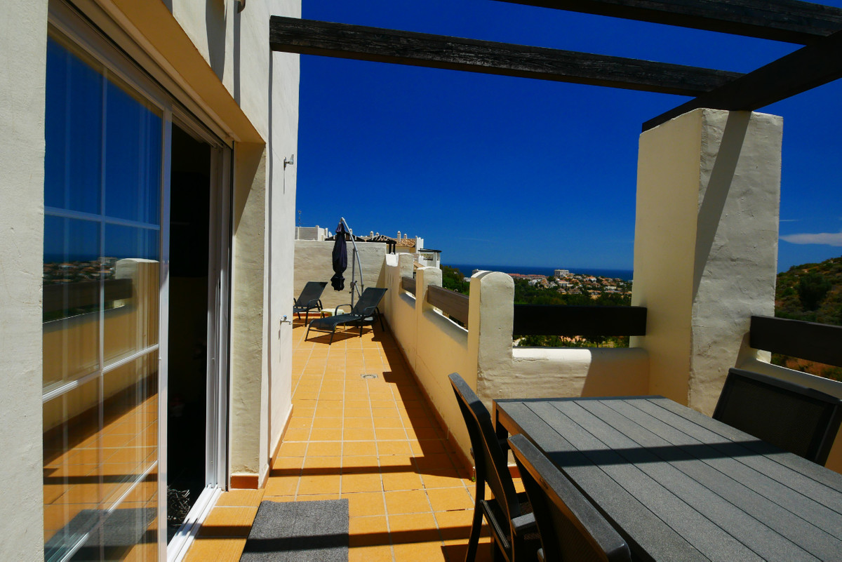 This is a very attractive penthouse apartment in a gated complex with a large 77m2 terrace and great,Spain